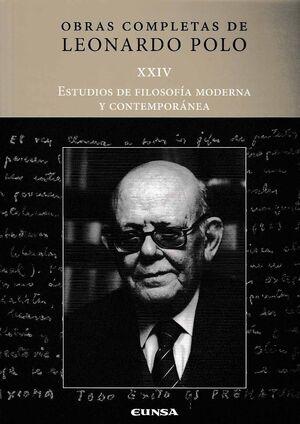 ESTUDIOS DE FILOSOFÍA MODERNA Y CONTEMPORÁNEA. OBRAS COMPLETAS DE LEONARDO POLO