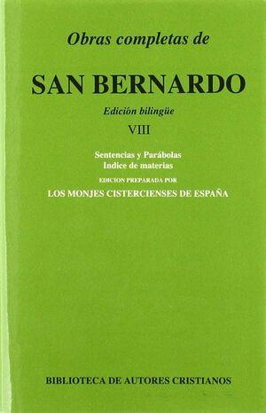 OBRAS COMPLETAS DE SAN BERNARDO. VIII: SENTENCIAS Y PARÁBOLAS. ÍNDICE DE MATERIA