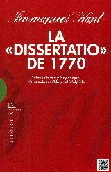 DISSERTATIO DEL 1770