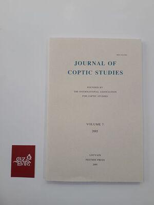 JOURNAL OF COPTIC STUDIES VOLUME 7 (2005)