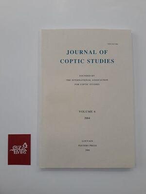 JOURNAL OF COPTIC STUDIES VOLUME 6 (2004)