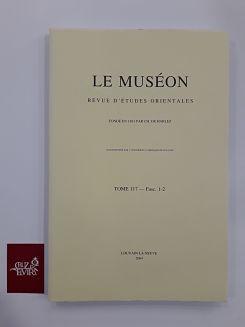 LE MUSEON REVUE D´ETUDES ORIENTALES TOMME 117 FACS 1-2 2004