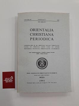 ORIENTALIA CHRISTIANA PEDIODICA VOLUMEN 58 FASCICULUS I 1995